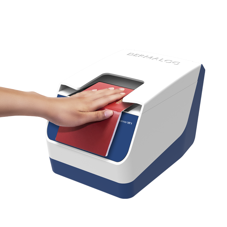 The world's first combined scanner for fingerprints and documents.