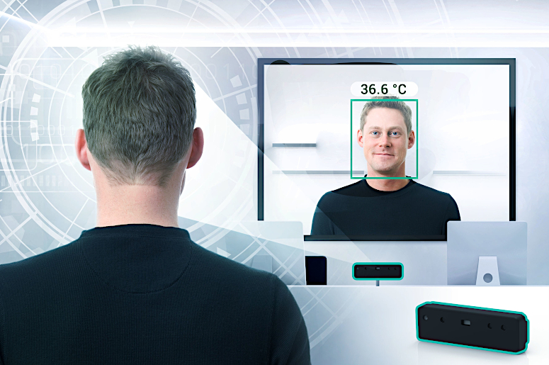 [Translate to fr:] DERMALOG's Fever Detection Camera measures body temperature by scanning people's faces using state-of-the-art sensor technology.